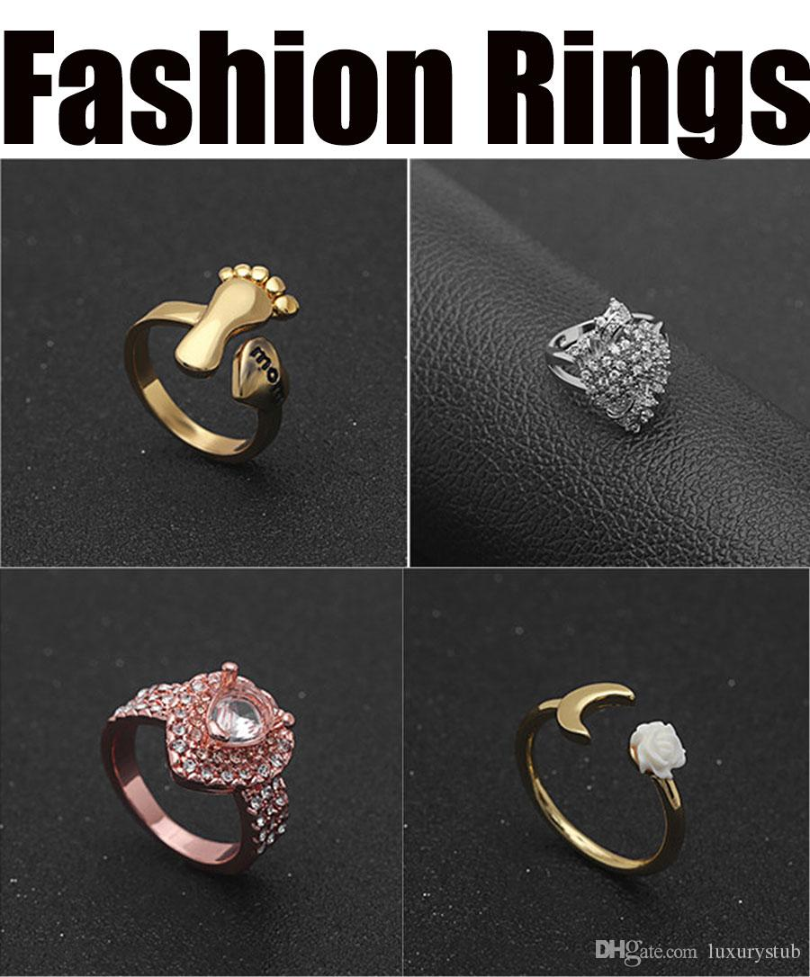 new 2019 wholesale manufacturer rings for lover fashion bronze real 925 sterling silver festival party cheap orange cone