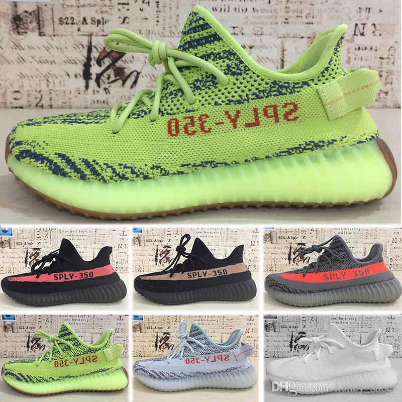 703c605b7 Großhandel Adidas Yeezy Boost 350 500 700 V2 2019 Static 350 V2 Butter  Halbgefroren Gelb Blau Tönung Beluga 2.0 Zebra Creme Weiß V2 350 Herren  Damen Kanye ...