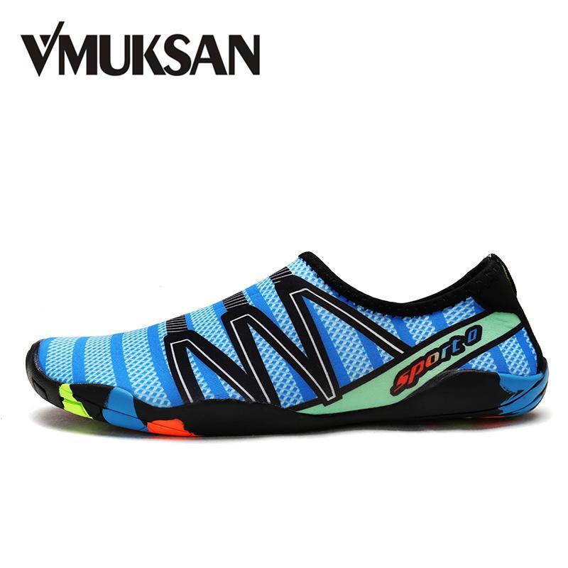 scarpe sportive 08712 e998c Scarpe di moda acqua di marca VMUKSAN uomini estate traspirante grande  taglia 38-46 scarpe casual da uomo popolare spiaggia per l uomo studente