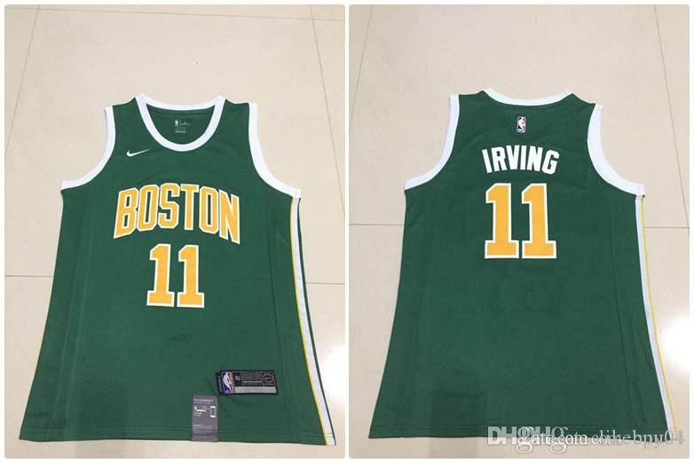 buy online 930f4 98d46 Men Boston New Season Celtics Jersey Kyrie Irving Reward Edition Baketball  Jerseys - Green