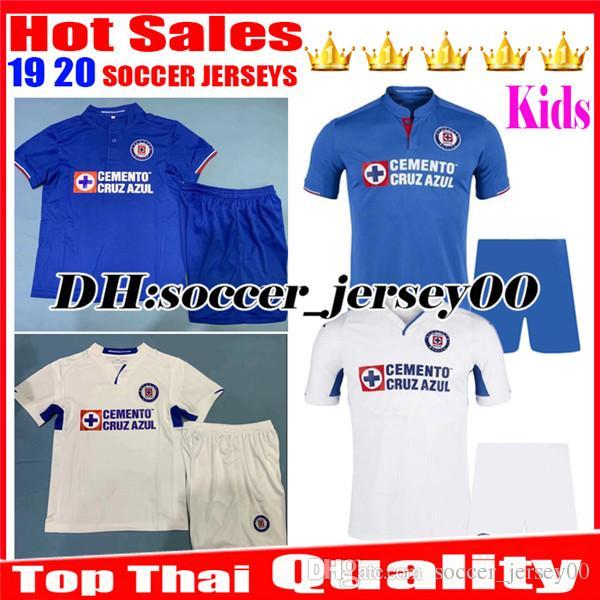 591eaf6b5 Kids 2019 2020 Mexico Club Liga MX CDSC Cruz Azul Soccer Jersey ...