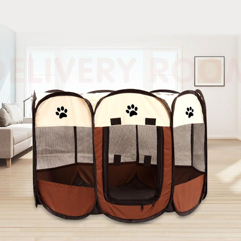 Portable Folding Pet Tent Dog House Playpen Cat Fence Cage Puppy Carrier Octagon Breathable Play Indoor Outdoor Supplies Product