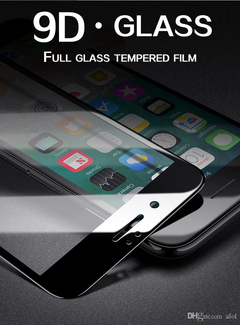 New 9D protective Tempered glass for iPhone 6 6S 7 8 plus X XR XS MAX screen protector Film Guard Protection Glass