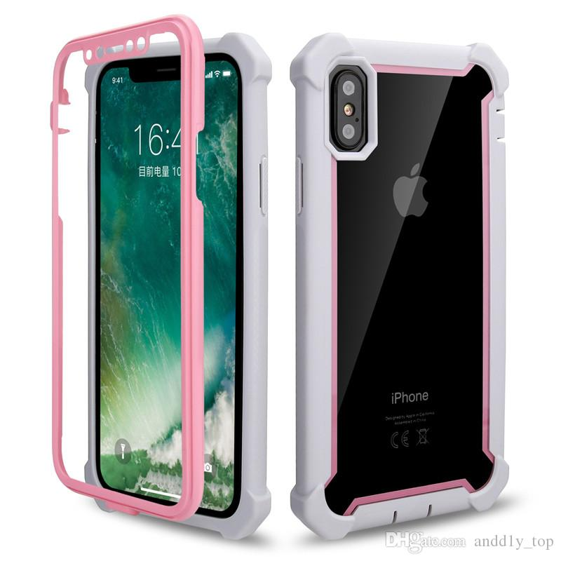 5139ab01f6 Clear Hybrid Defender Case For IPhone XR XS MAX 8 7 6 Plus TPU Bumper Protector  Back Cover Full Body Shockproof Phone Cases Top Rated Cell Phones Leather  ...