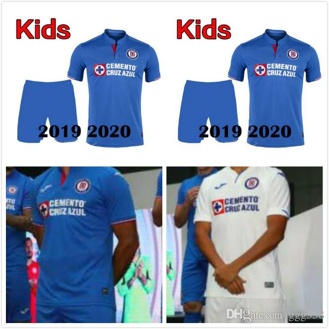 d4e492ee6b2 2019 Good Quality 2019 2020 Liga MX Cruz Azul Kids Soccer Jersey Kit Cruz  Azul Soccer Jerseys19 20 Child Kids Shirts Outdoor T Shirts From Ggg558, ...
