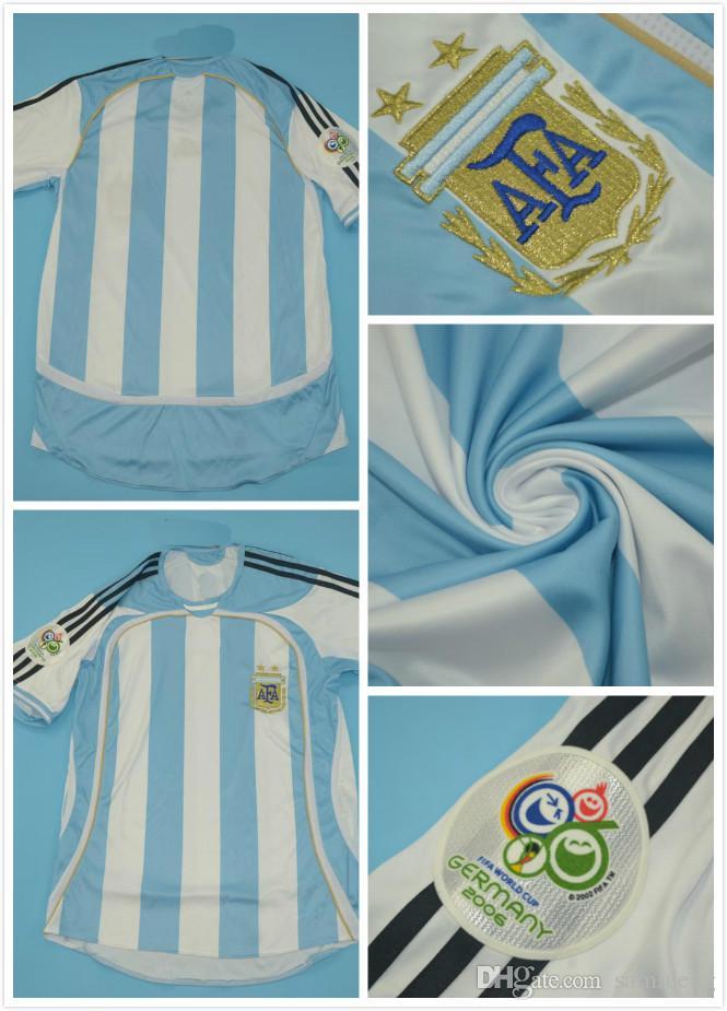 2019 Top Quaity 2006 WORLD CUP Argentina 2006 Version Men Size