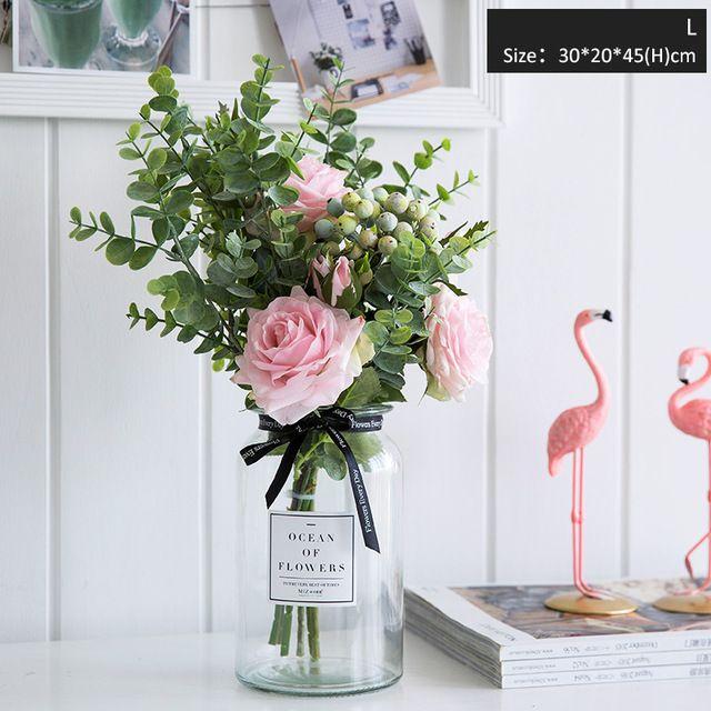 Compre 2019 Flores Artificiales Para Jarrones De Boda Para Flores