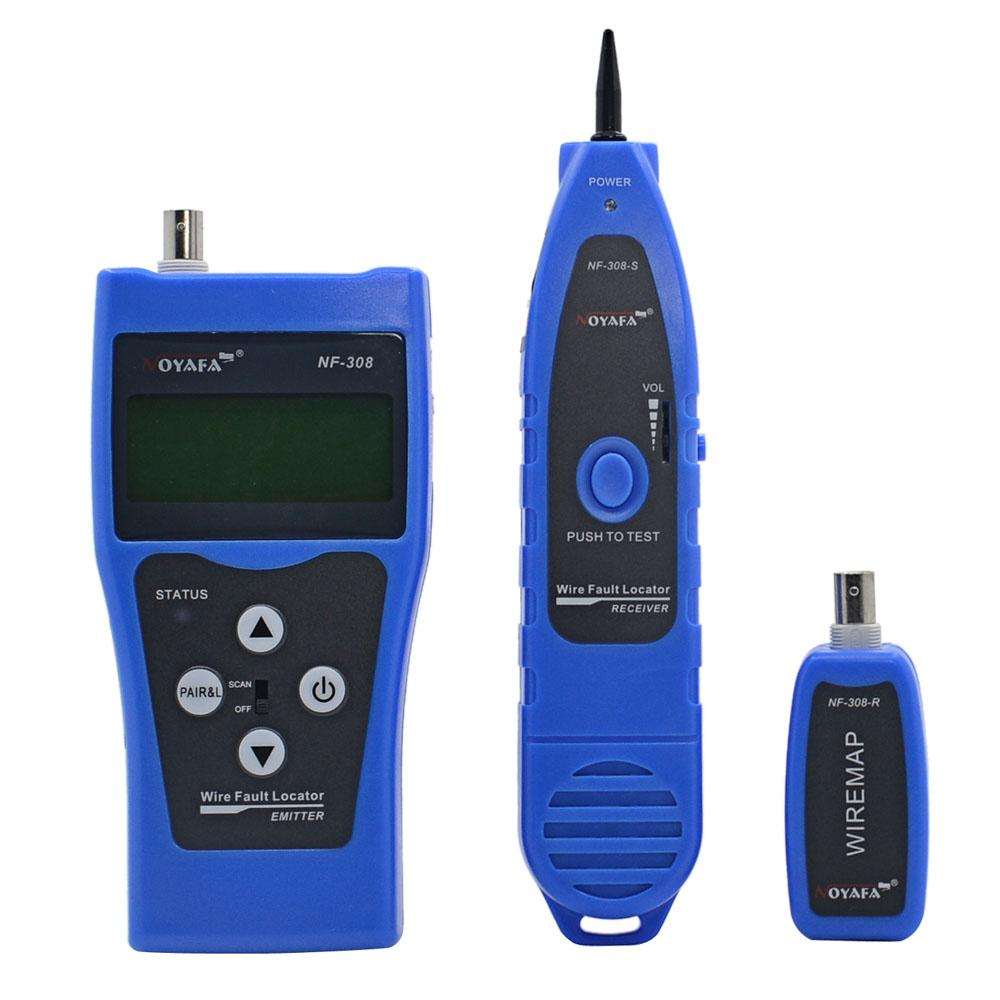 Freeshipping Blue Line Finder Telephone Wire Tracker Diagnose Tone Tool Kit LAN Network Cable Tester Cat5 Cat6 RJ45 UTP STP