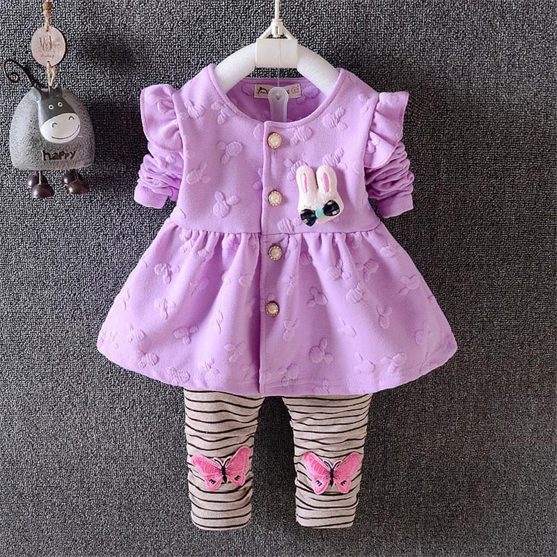 18143e6e7ef1 2019 Good Quality 2019 Girls Clothes Set Baby Kids Girl Clothing Set  Children Cute Rabbit Suit Kids Cartoon Jackets + Pants Clothes From  Cynthia04, ...