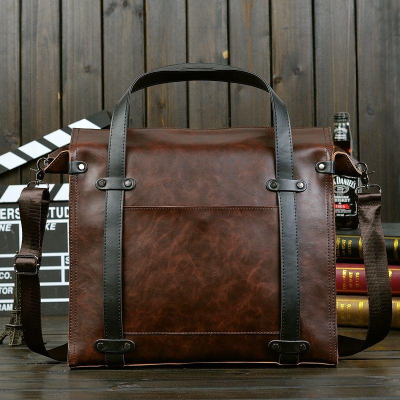 15f03b1edd 2019 New Hot Sale Briefcase Tote Bags Men Crazy Horse Leather Handbag  Business Shoulder Bag Men Vintage Fashion Work Messenger Bags Coffee Leather  Satchel ...