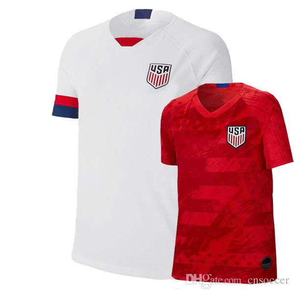 abc40fc62 2019 Top Qality Soccer Jersey America Home White 19 20 PULISIC YEDLIN  BRADLEY 2019 United States Away Red Football Shirts From Cnsoccer, $13.2 |  DHgate.Com