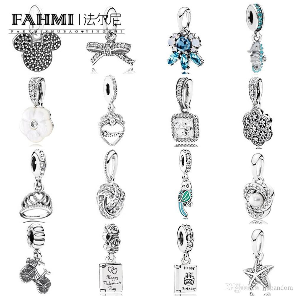 FAHMI 100% argent sterling 925 Charm Bow