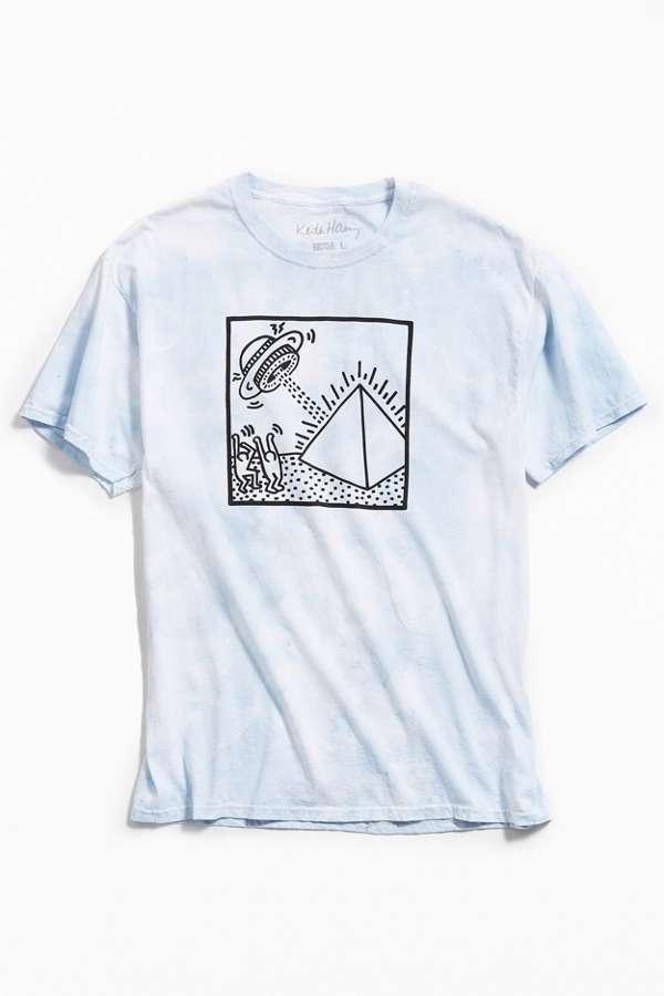 keith haring ufo cloud tie dye t shirt uo exclusive. Black Bedroom Furniture Sets. Home Design Ideas