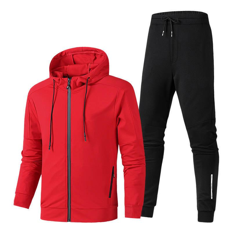 Designer Men Sports Suit Tracksuit Brand New 2019 Luxury Two-Pieces Fashion Sportwears Sports Style Three color available red black white