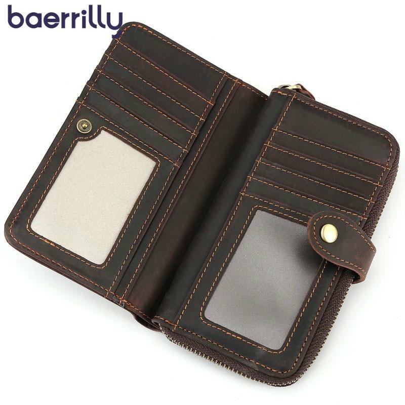 422121d09b2 2019 New Pattern Genuine Leather Men s Wallets Travel Money Pocket ...