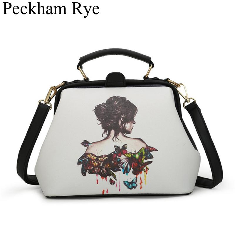 Women Handbag Female Shoulder Bag Ladies Cartoon Print Handbags Women's Messenger Crossbody Hand Bags Famous Designer Totes