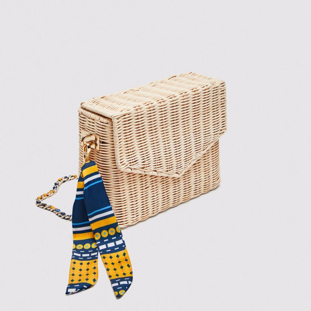 NEW Straw Bag Decoration Women Summer Beach Bag Cover Basket Shape For Travel Lined with Handmade Drawstring Bag Silk scarves