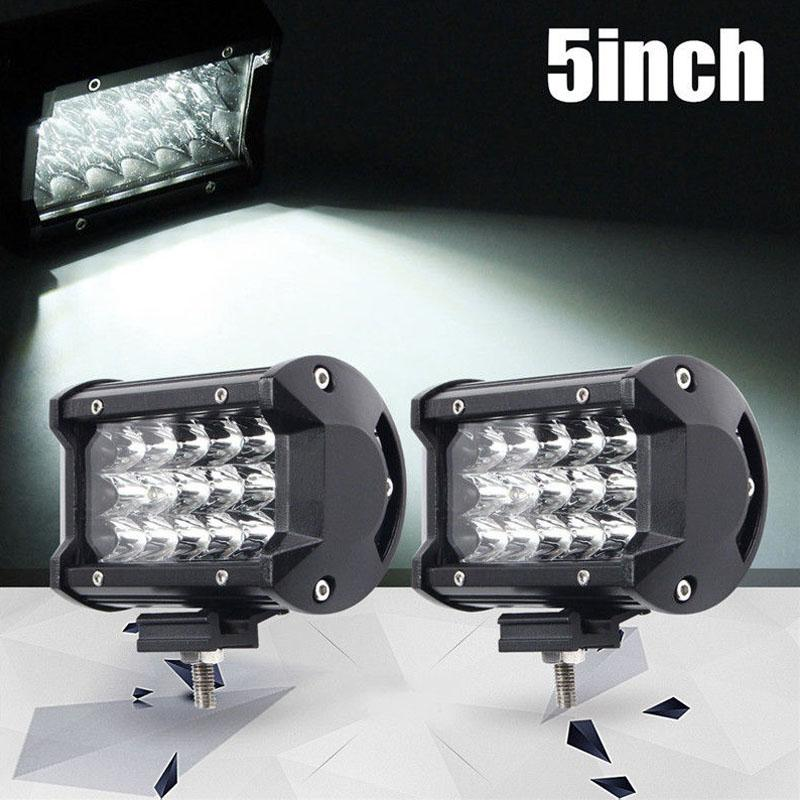 dropshipping 2 pièces / Set 54W 5inch voiture LED Light Work Spot Bar Poutre SUV Bootfahren Offroad lampe VTT OE88