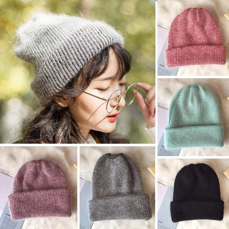 Fashion Brand Winter Hats For Women High Quality Rabbit Fur Knitted Beanies  Ball Caps Ladies Warm Hat Knit Hats Cheap Hats From Sisan08 768f5f3a6e6