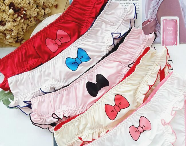 "PRINTS 100/% silk String bikini panties with bows XXl /""7/"" 1 prints 1 EA"