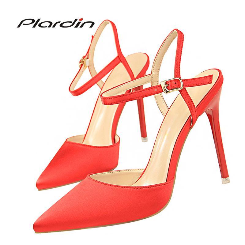 Designer Dress Shoes Party Pumps Women Wedding Pumps Victoria Woman 2019  Concise Women S Shallow Bridal High Heels Ladies Ankle Strap Heels Shoes  Online ... 942c119dc5ae