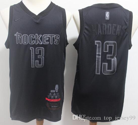 timeless design 98205 80e9c 2019 Season Houston Men Rockets MVP Jersey James Harden Black Honorary  Edition Embroidery Jerseys Free shipping