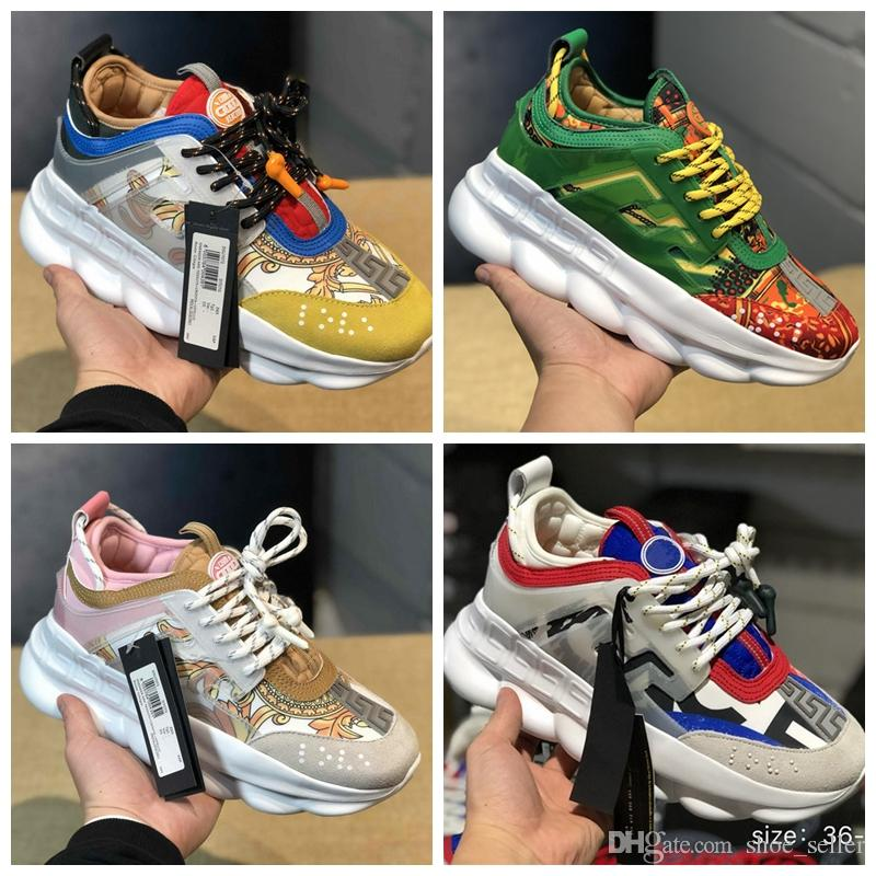 2f6a7237f5b0 2019 New Designer Chain Reaction Men Running Shoes Luxury Brand Women Sports  Sneakers Trainers Fashion Height Increasing Shoe Loafers Mens Boots From ...