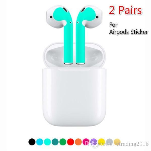 2c1e4959113 Protector Skin Sticker For Apple AirPod Skins Protective Wraps Film Skin  Sticker For Air Pods Wireless Earphone Wifi Headphones Wireless Sport  Headphones ...