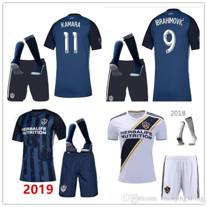 size 40 9f028 726e6 2020 La galaxy zlatan IBRAHIMOVIC Home Away 2019 Soccer Jerseys Kit 19 20  LA galaxy Blue GIOVANI J.DOS SANTOS Football