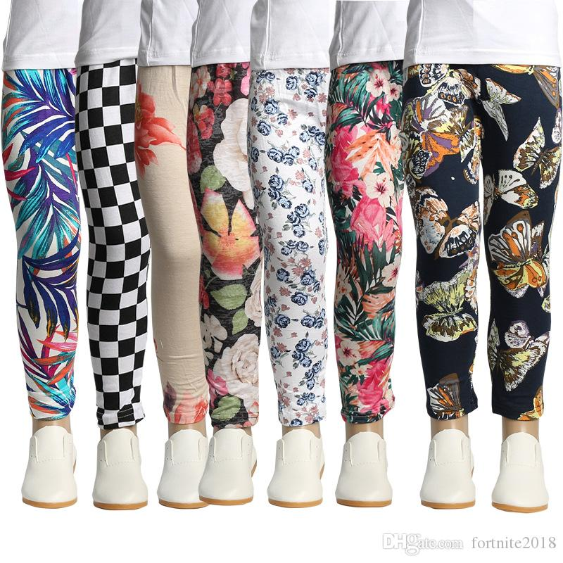 f4b8c2b152dc6a 2019 Baby Girls Ankle Length Leggings Pants Girls Multicolor Tights Cotton Pants  Children Christmas Trousers Kids Designer Clothing From Fortnite2018, ...