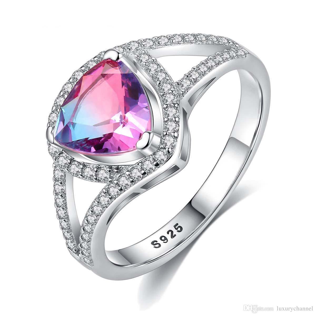 7dc82e4334a7 Compre El Mejor Regalo Anillo De Cristal Grande Lleno De Diamantes 925  Anillo De Piedras Preciosas De Plata 18k Chapado En Oro Anillos De Dedo 4    4.5   5 ...