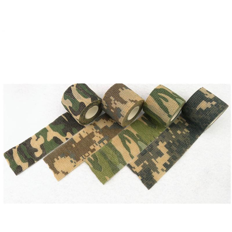 Military Camouflage Adhesive Tape Security Protection Waterproof Elastic Self Adhesive Medical Elastic Bandage First Aid Kit Gun (19)
