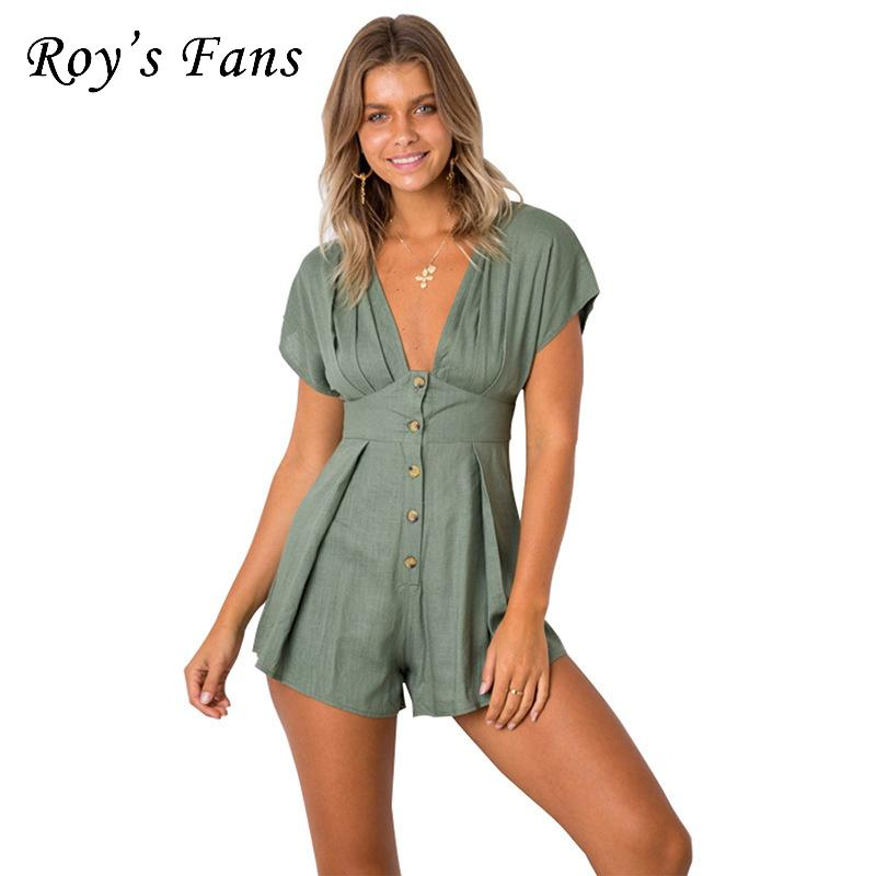 In Sexy Women Summer Leopard Jumpsuit V Neck Backless Romper Playsuit Clubwear Halter Sleeveless Leotard Superior Quality