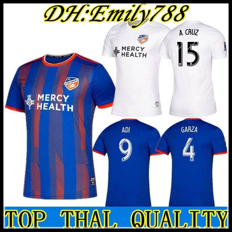 best service c0e22 5a69e 2019 2020 MLS Men s FC Cincinnati home Soccer Jerseys Football Shirt 19/20  GARZA WASTON BERTONE ADI men Soccer jerseys Football Shirts