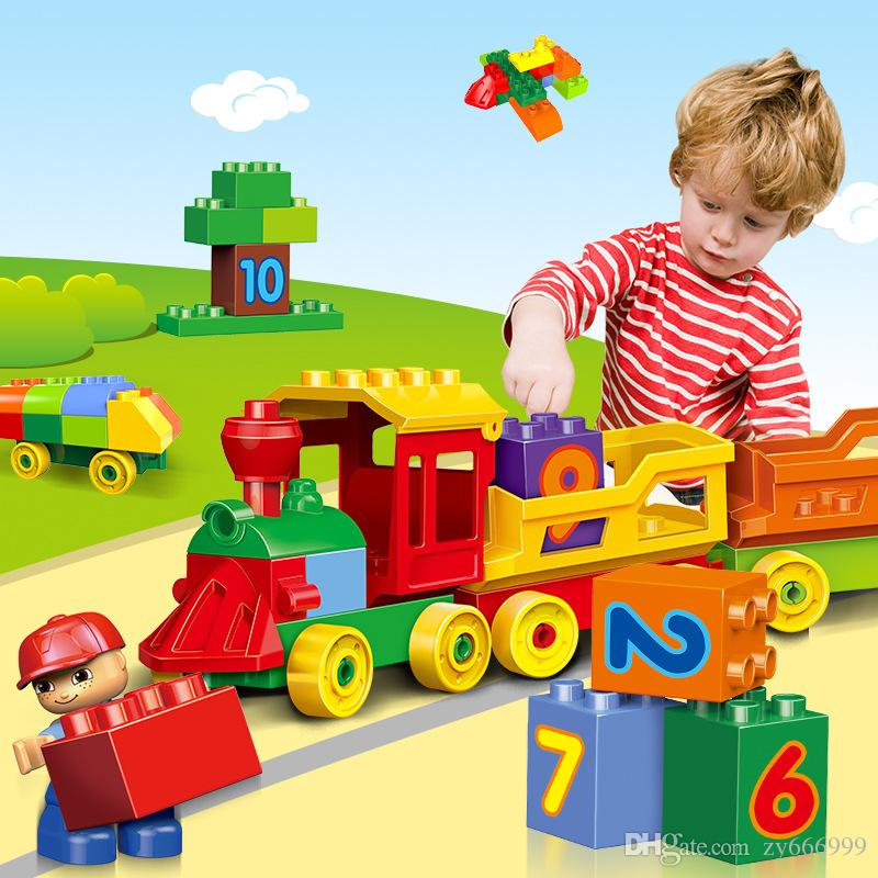2019 Building Blocks Digital Trains Assembling Toys ChildrenS Puzzle Boys 1 6 Years Old Birthday Gifts Cars Enhance Imagination From Zy666999
