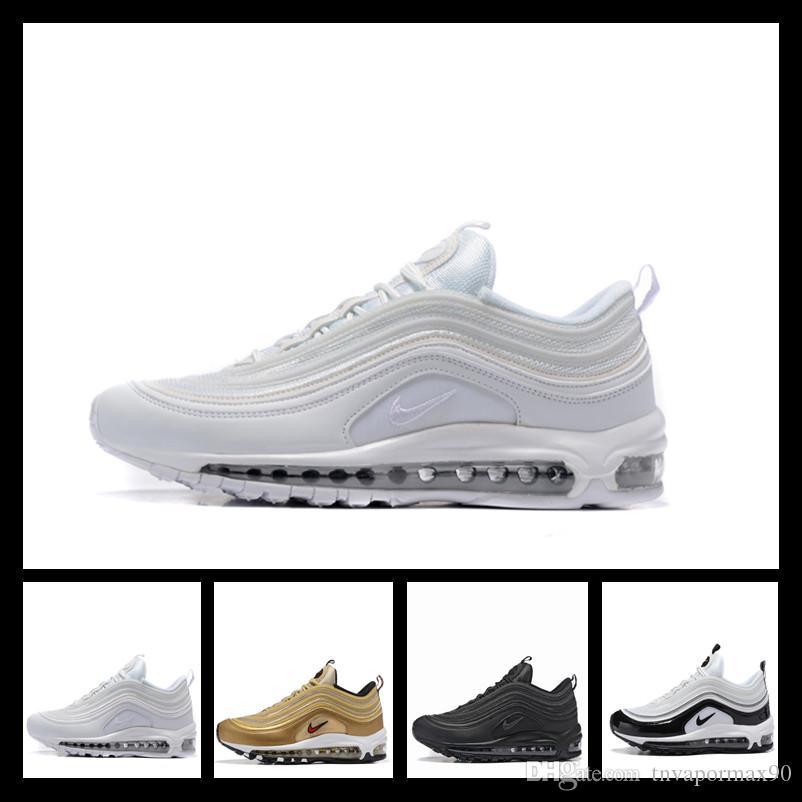 2019 Designer shoes men women Nike 97 AIR MAX New Running Shoe Classic 97er Jahre Rot Schwarz Weiß Bule Japan Sliver Bull Trainer Kissen Atmungsaktive