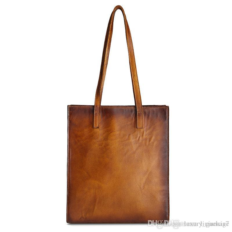 764f8ec9a90 Original Literary Fan Retro Leather Handbag First Layer Cowhide Hand  Brushed Shoulder Bag Shopping Bag Best Messenger Bags Handbags Brands From  ...