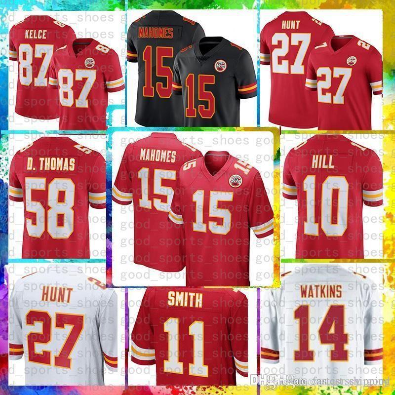quality design 5e1e8 2daaa cheap 15 Patrick Mahomes II Jersey Kansas City 87 Travis Kelce Chiefs 29  Berry 10 Tyreek Hill 27 Kareem Hunt Thomas 14 Sammy Watkins Houston