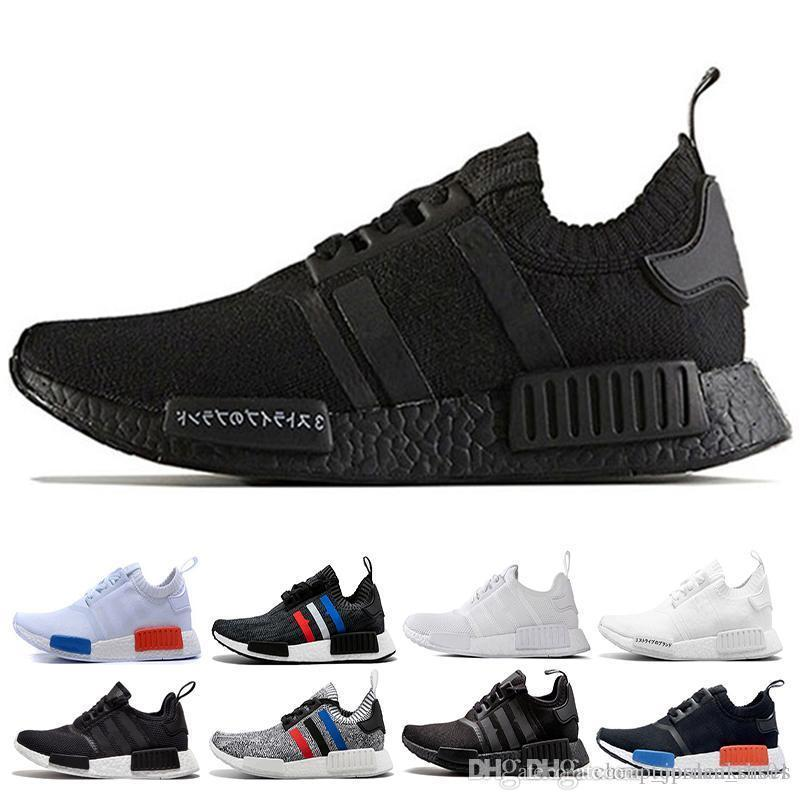 Wholesale NMD R1 Japan Triple Black White Men Womens Shoes Primeknit PK Red  Grey Runner Sports Shoes Trainer Athletic Womens Sandals Comfortable Shoes  From ... 8dd1af32b