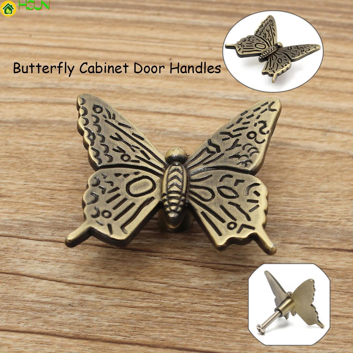 2019 Antique Butterfly Cupboard Door Handle Kitchen Cabinet Pull