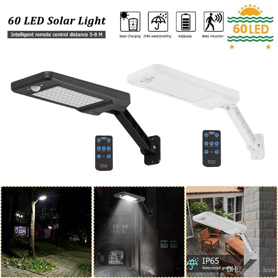 48 LED Remote Solar Light PIR Motion Sensor IP65 Protection Outdoor Wall Lamp UK