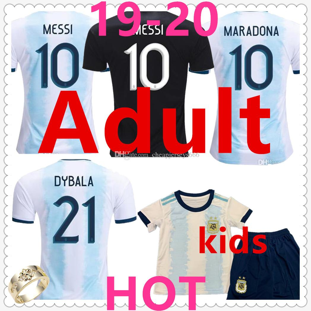 best loved 72d61 1f9df Argentina mens designer t shirts soccer jersey 19-20 messi kids maillot de  foot DYBALA HIGUAIN ICARDI Camisetas de futbol football shirt
