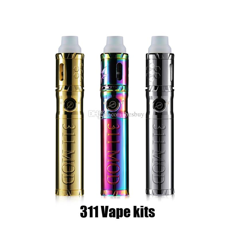 Authentic LTQ Vapor 311 Kit Erva Seca Erva Dispositivo Vaporizador Vape Pen Mod Fit 18650 Bateria Com Adaptador de Tubulação De Água 100% Original