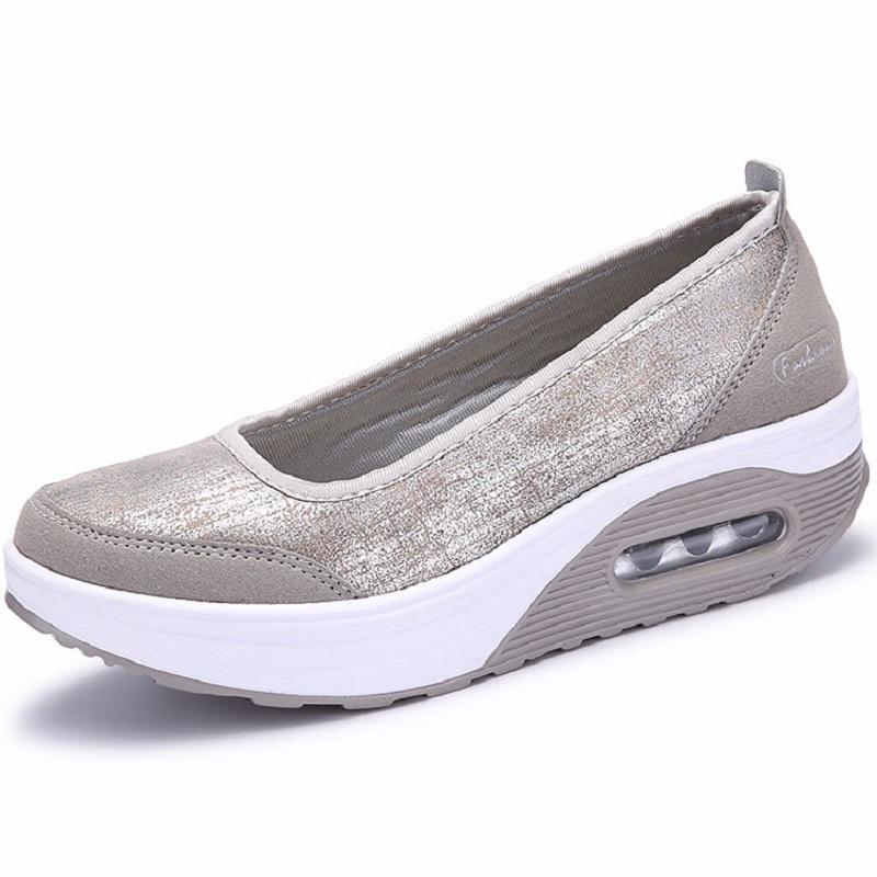 Mujer Plataforma Plana Mocasines Poca Profundidad Las Zapatos Ocasionales Pisos De En Los Mocasín Moda Mujeres I2DEWH9