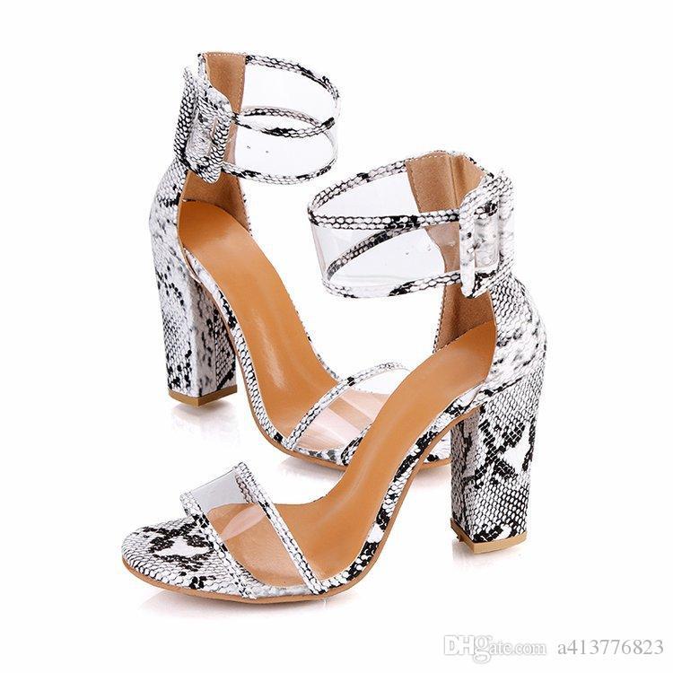9babcc33cce 2019 Summer New Style Ladies Rhinestone Cutout High Heel Sandals Sexy  Platform Pumps Roman Sandals Women Dress Shoes
