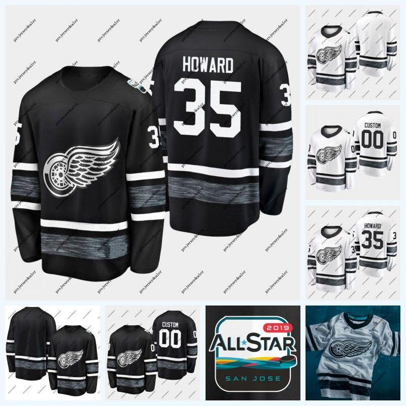 more photos c453f 01b90 35 Jimmy Howard Detroit Red Wings 2019 All-Star Game Hockey Jersey 71 Dylan  Larkin 14 Gustav Nyquist 72 Andreas Athanasiou 59 Tyler Bertuzzi