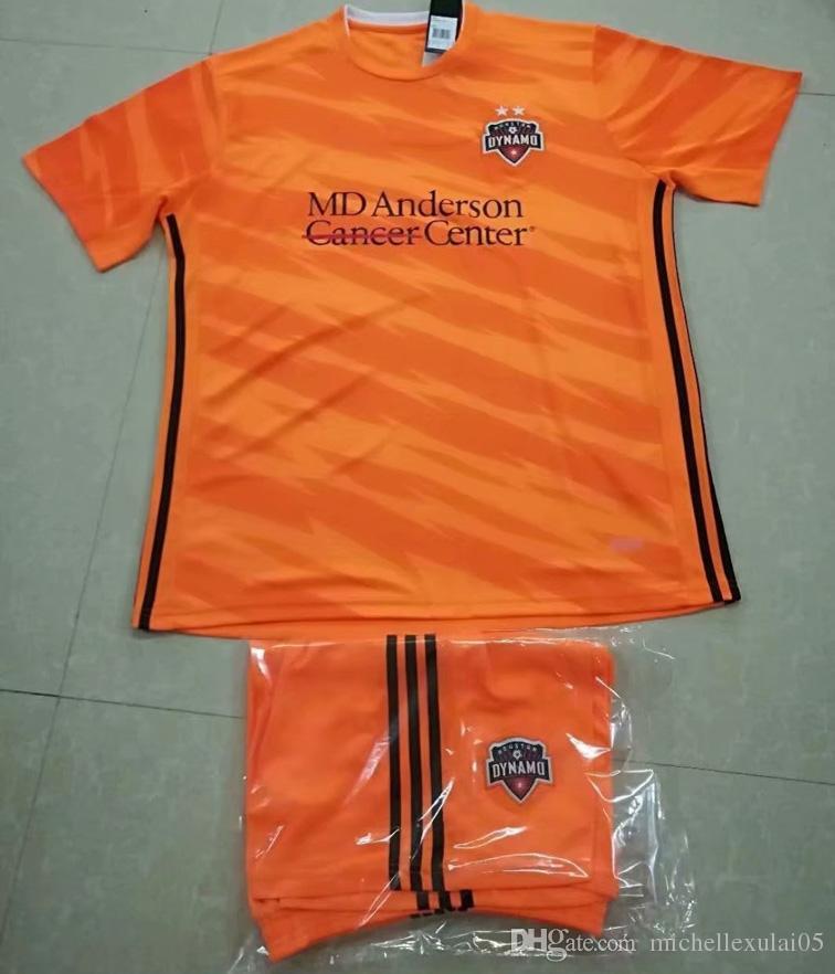 low priced 68810 39912 2019 Houston Dynamo Home Soccer Jersey Shorts Orange Football Sets 2019/20  ELIS MARTINEZ QUIOTO MANOTAS Football Jersey Mens Soccer Uniforms