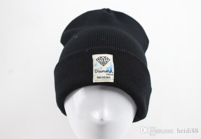 a761b862fb0 2019 Fashion Unisex Spring Winter Hats For Men Women Knitted Beanie Wool  Hat Man Knit Bonnet Diamond Beanie Gorros Touca Thicken Warm Cap Hats For  Sale Hats ...