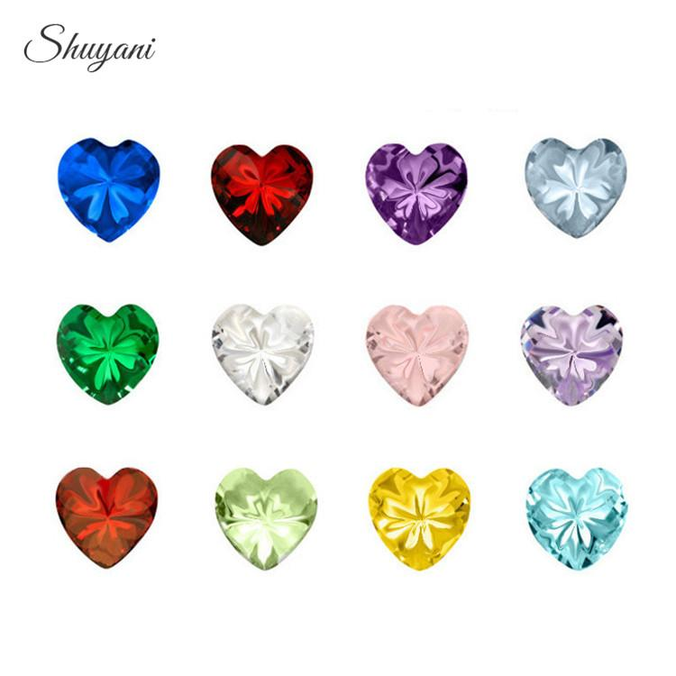 24c760968329 Compre Heart   Round   Star Crystal Charms Birthstone Floating Birthday  Stone Charms Para Living Memory Locket Flotante A  33.37 Del Ogstuff