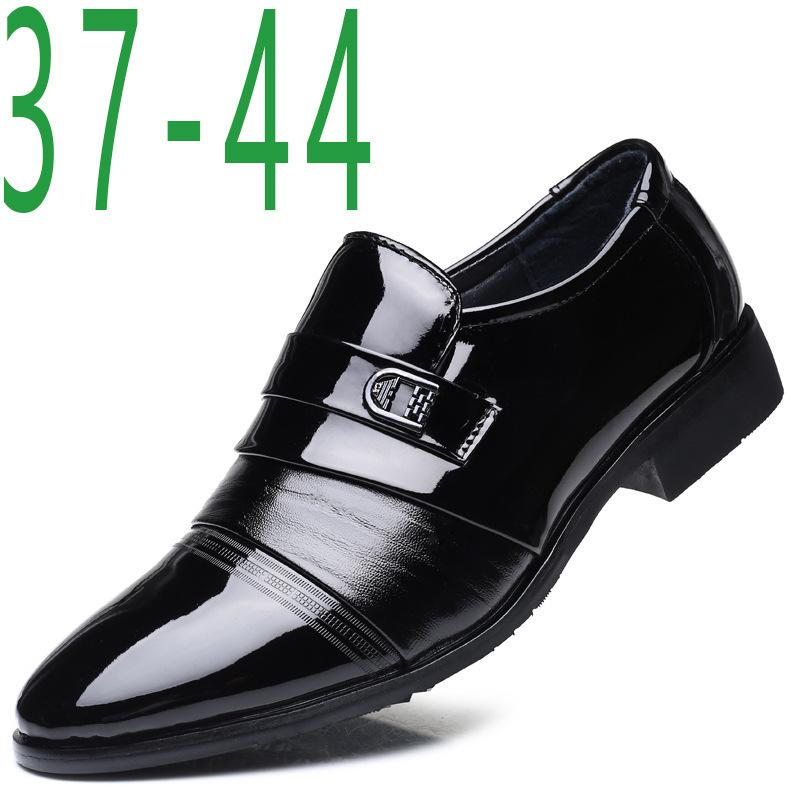 181e218dd Sexy2019 Homem Sharp Set Pé Correct Vestido De Couro Sapatos